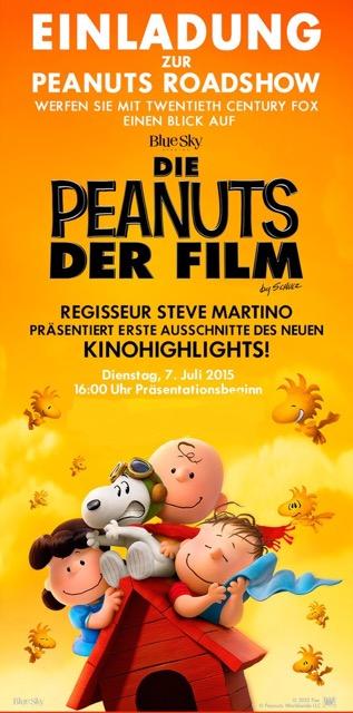 Einladung zur Präsentation von PEANUTS in Berlin am 7.Juli