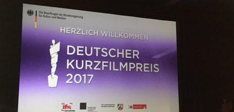Filmanmeldung für den Deutschen Kurzfilmpreis 2018