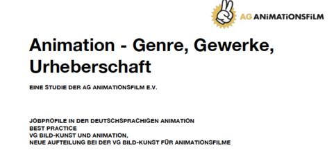 Studie der AG Animationsfilm zur Einteilung und Definition von Jobprofilen